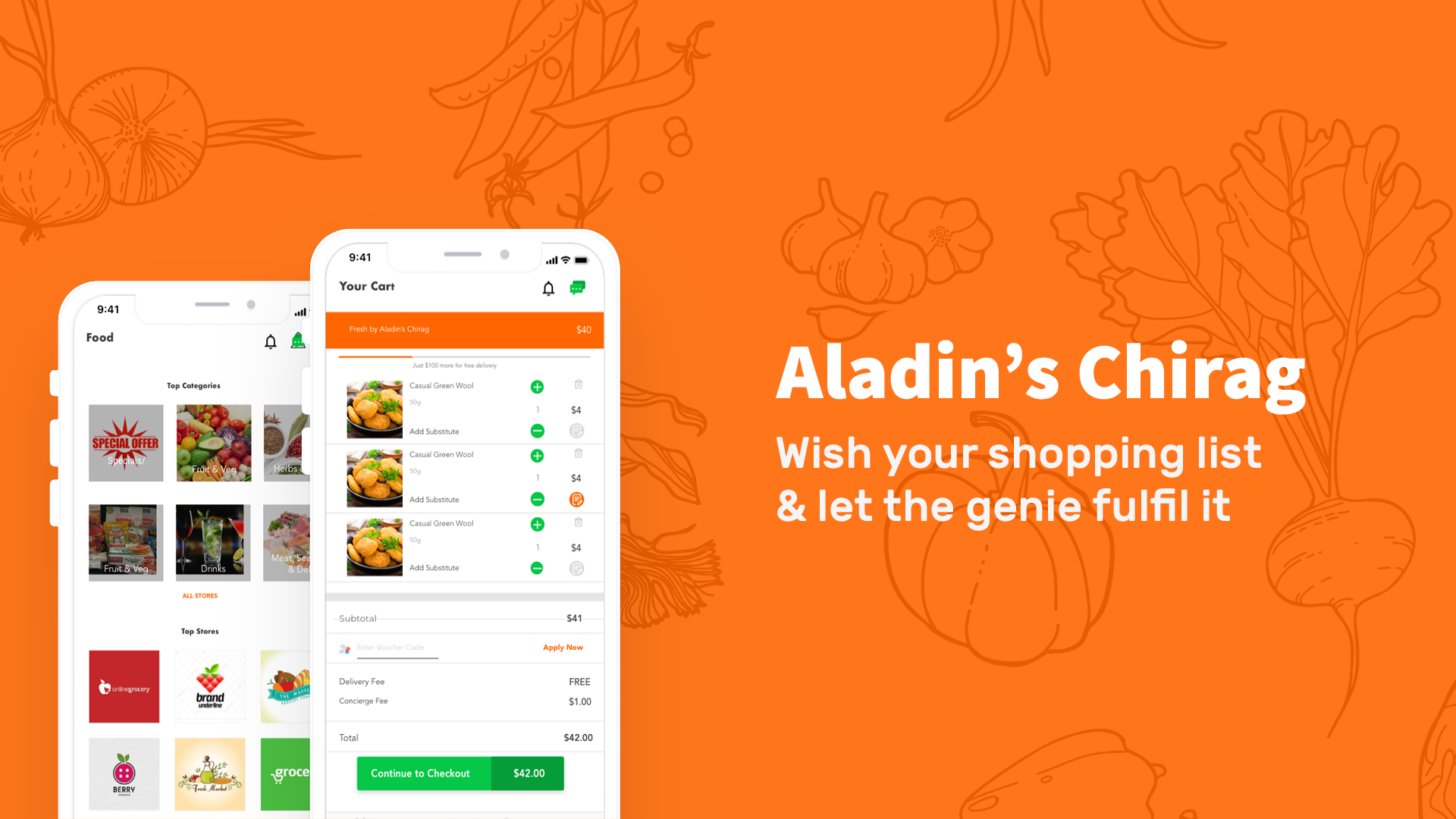 online grocery shopping aladin's chirag